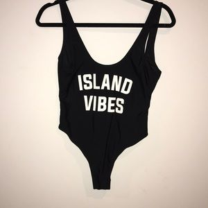 Island vibes one piece bathing suit